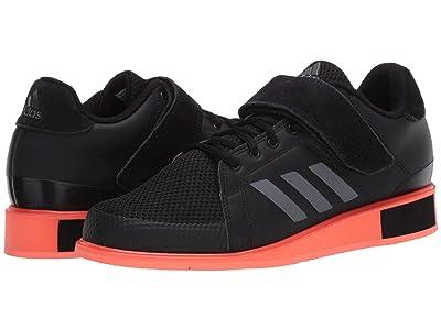 adidas Power Perfect III (Core Black/Night Metallic/Signal Coral) Men