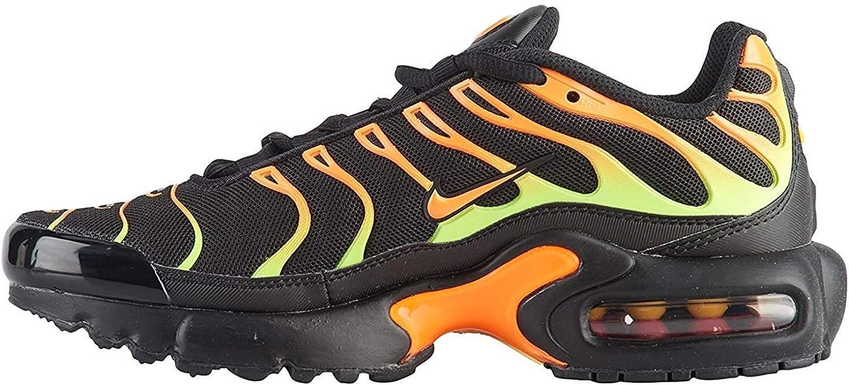 Nike Air Max Plus Black/Volt-Total Orange (GS) (3.5 M US Big Kid)
