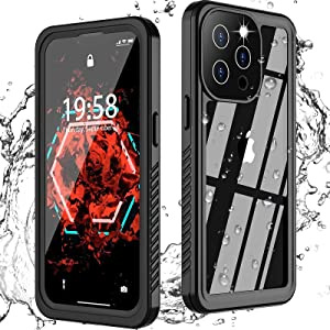 Hoguomy for iPhone 13 pro max Case Waterproof, Built in Screen Protector Full-Body Protection Heavy Duty Shock-Proof Cover Waterproof Case for iPhone 13 pro max 6.7 inch 5G (2021)