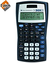 $31 » Texas Instruments TI-30X IIS 2-Line Scientific Calculator, Black with Blue Accents - 2 Pack