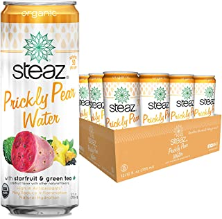 Steaz Prickly Pear Water with Starfruit and Green Tea