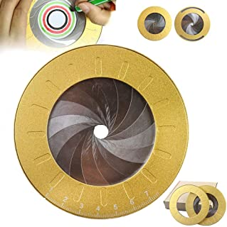Circle Drawing Maker Tool, Stainless Steel Large Art Metal Round Circle Template Adjustable Measurement Drawing Ruler