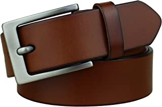 Bullko Men's Casual Genuine Leather Dress Belt For Jeans Classic & Fashion
