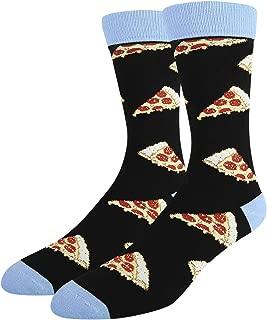 Novelty Funny Crazy Funky Socks, Donut Pizza Taco Sushi Burrito Crew Socks for Men