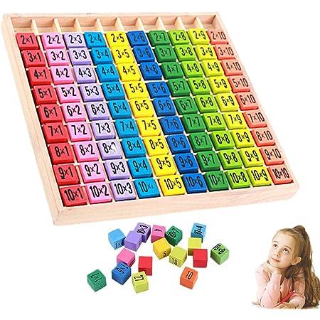 Wellxunk Tablas Multiplicar Juego De Tabla De Multiplicar Tabla De Multiplicar De Madera 10x10 ábaco De Madera Matemáticas Para Niños Matemáticas Educativos Juguetes De Madera Amazon Es Juguetes Y Juegos