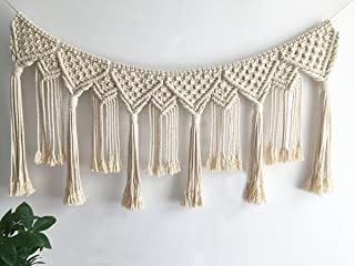 Youngeast Handmade Boho Macrame Wall Hanging Home Décor Woven Tapestry 39.5 x 15.7 Inches Beige