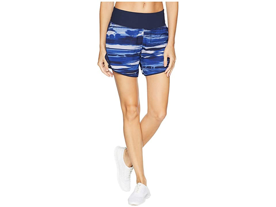 New Balance 5 Print Impact Shorts (Blue Iris) Women