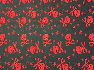 Skulls & Crossbones Red Fleece Fabric - 60