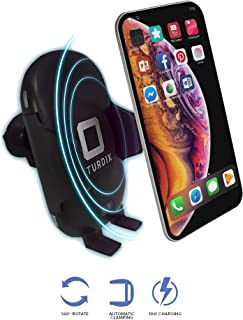 [STURDIX] Wireless Car Charger Mount, Infrared Motion Sensor Automatic Open Clamp, 10W/7.5W Qi Fast Charging Air Vent Phone Holder/Compatible for iPhone, Samsung, Nexus and Android Smartphones