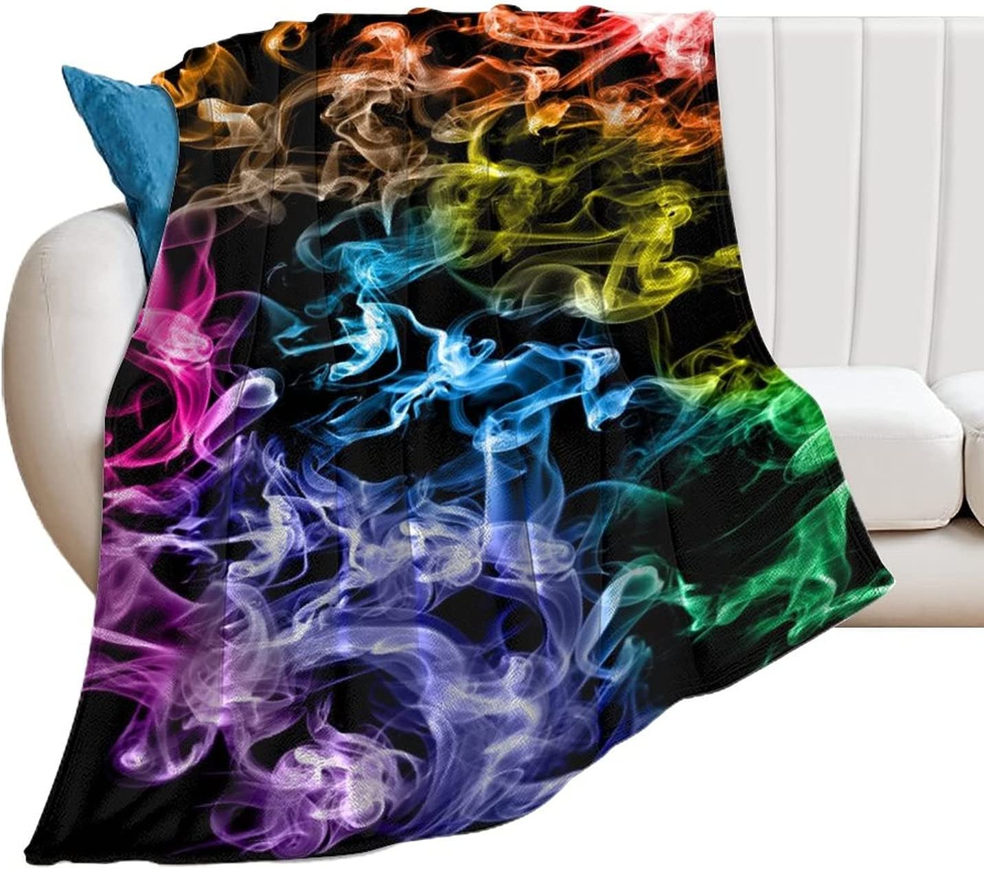 Colored Smoke Blanket Flannel 40% Spasm price OFF Cheap Sale Super Soft Bed Bedroom Decorative