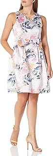 فستان تاهاري ASL للنساء بدون أكمام القوس الخصر