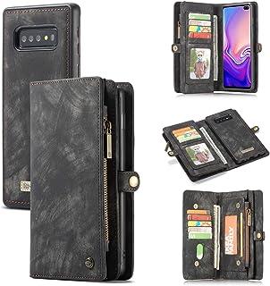 AKHVRS Galaxy S10e Wallet Case, Premium Leather Folding Flip Wallet Case Cover for S10e Card Slots Magnetic Closure Protective Cover Detachable Wallet Folio for Samsung Galaxy S10e Black