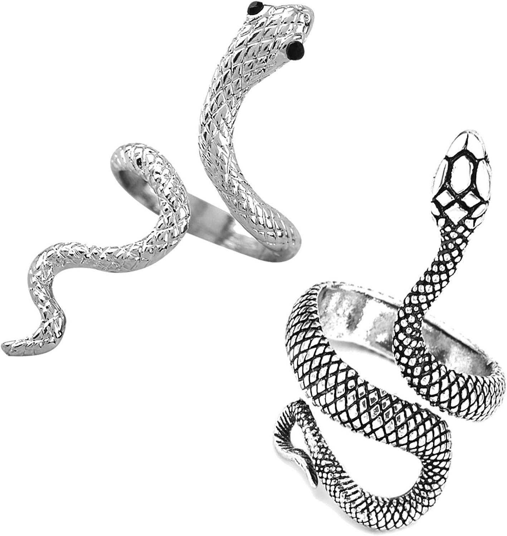 Long tiantian Retro Luxury goods Dainty Snake Popular product Punk Pe Rings Gothic Adjustable