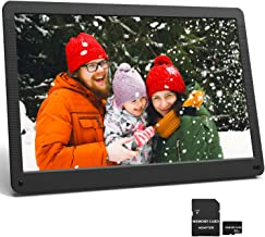 17.3 Inch Digital Picture Frame 1920x1080 16:9 IPS Screen, Motion Sensor, Photo Auto Rotate, HD Video Frame, Background Music, Auto Play, Auto Time On/Off, Wall Mounted/Stand, Include 32GB SD Card