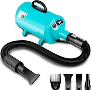 amzdeal Dog Dryer 2800W/3.8HP Stepless Adjustable Speed Pet Hair Grooming Blower, Home Use/Professional Pet Hair Force Blo...