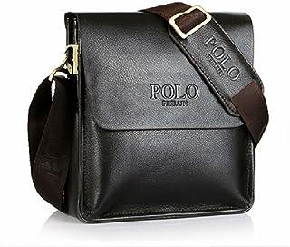 2a33df28d98f POLO FEILUN Men s Messenger Bag Classic Vintage Genuine Leather Shoulder  Bags Crossbody Bags Briefcase Business Composite