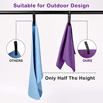 Vinsguir Quick Dry Microfiber Towel(3 Size), Camping & Travel & Beach & Workout Towels - Super Absorbent, Ultra Compa...