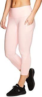 RBX Active Women's Fashion Capri Legging with Mesh Inserts