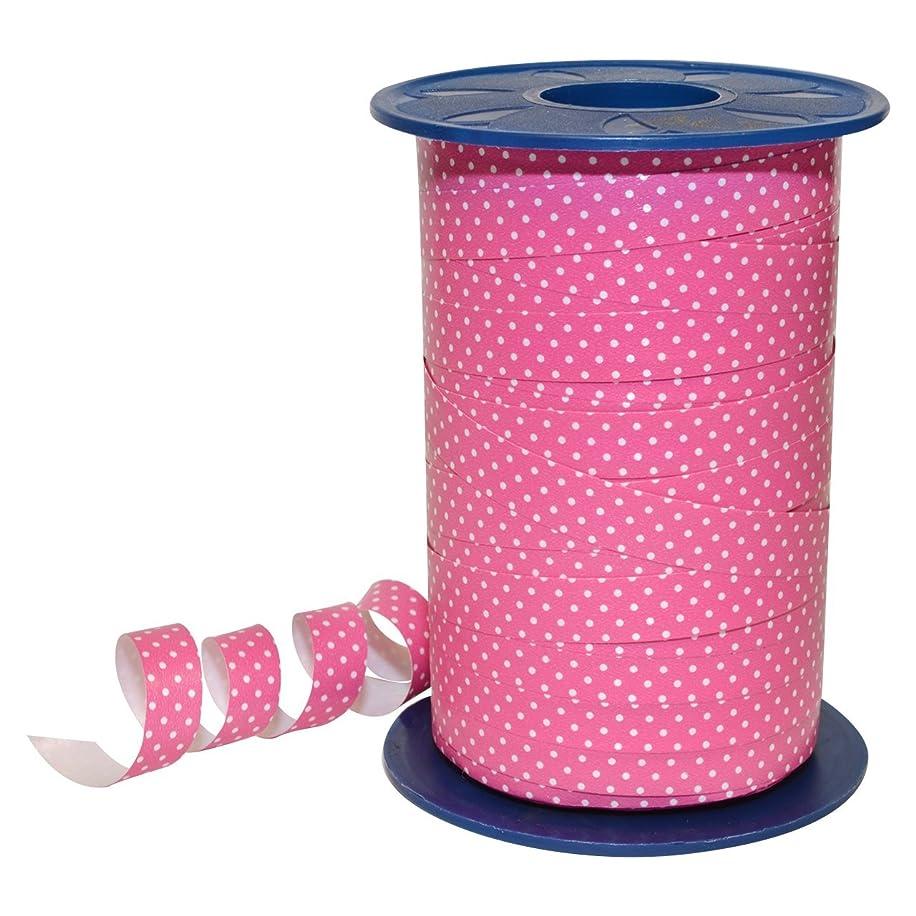 Morex Ribbon 378/9-020 Polypropylene Dots Curling Ribbon, 3/8