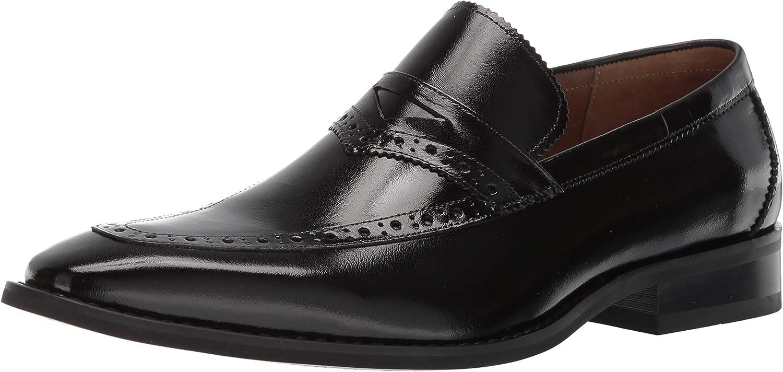 STACY ADAMS Men's Sanhurst Moc-Toe Penny Slip-on Loafer
