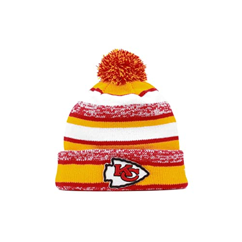 Kansas City Chiefs 2014 On Field Sport Cuffed Pom Knit Beanie Hat   Cap 935b66ac41a7