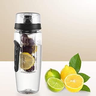 DOIT 32 OZ Cap Fruit Infuser Water Bottle,BPA-Free Leak-Proof Sport Bottle,Dual Hand Grips,Flip Top Lid & Drinking Spout,Insulated Sleeve