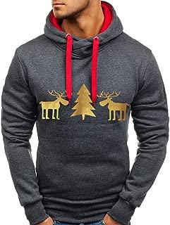 FORUU mens shirts Men's Hoodies, Foruu Tops Long- d T-Shirt Solid Hooded Blouse