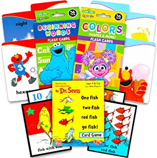 Sesame Street First Words Flash Cards for Toddlers Set -- Beginning Words, Colors and