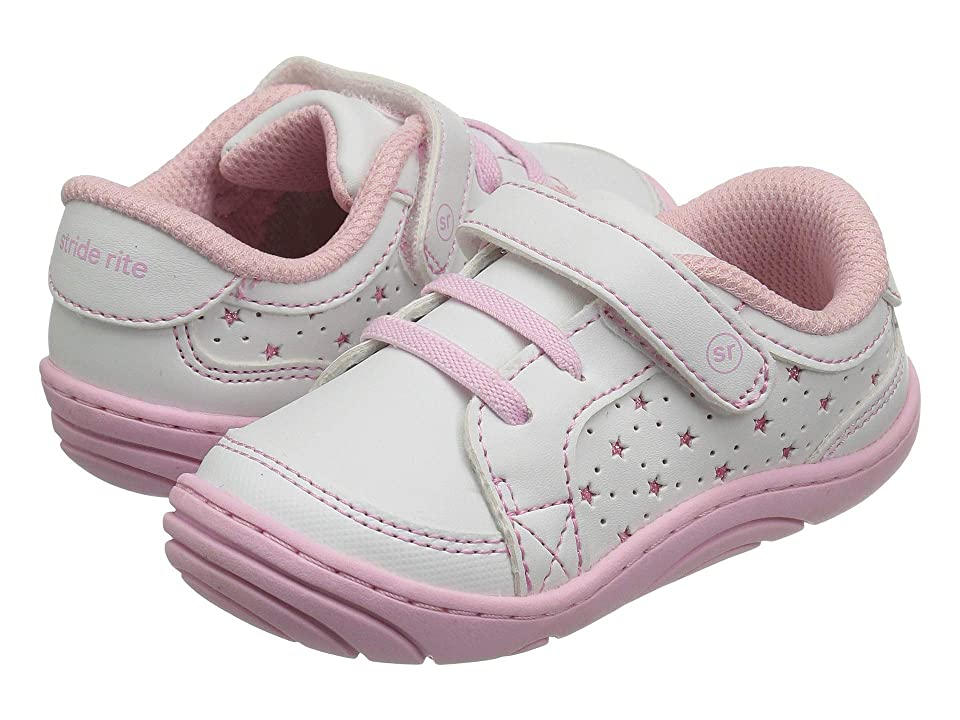 Stride Rite Aubrey (Infant/Toddler) (White/Pink) Girl