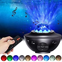 Star Projector Night Light, ALED LIGHT 2-in-1 Ocean Wave LED Starry Night Light Projector Built-in Bluetooth Speaker Sound...
