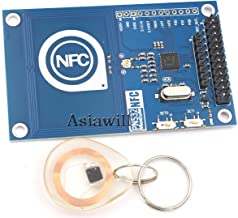 Asiawill 13.56MHz PN532 On-board Antenna NFC/RFID Module with Smart Card for Arduino/Compatible with Raspberry Pi