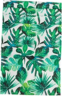 Nobildonna Tropical Leaves Table Runners Elegance Dining Table Cover Easy Care Polyester Table Runners for Wedding Banquet Reception Party Decoration- 13x72—Inch