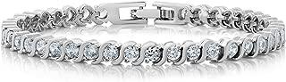 Yellow Chimes Feminine Sparkling Crystal Designer Bracelet for Women & Girls