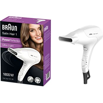 Braun HD530 Asciugacapelli Satin Hair, 1900 W, Nero: Amazon