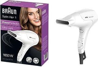Braun Satin Hair HD 180 - Secador de pelo (17,8 cm, 8,6 cm, 24,2 cm, 3,83 kg, 541 x 194 x 271 mm) Color blanco
