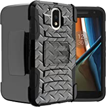 Untouchble Case for Moto G4  Moto G4 Plus Case   Motorola Moto G (4th Gen)[Heavy Duty Clip]- Shockproof Swivel Holster Case with Built in Kickstand - Steel Plate