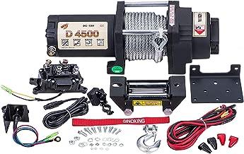 "Sinoking 12VDC 4500lb/2041kg,High Speed UTV&ATV Winch With 1/4""×32′(feet)Cable"