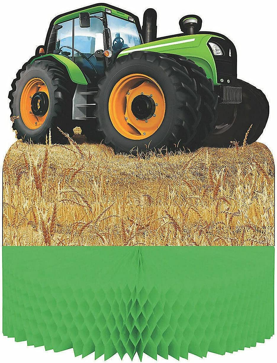 Tractor Party Honeycomb OFFicial mail order Centerpiece - 1 Import D Piece Supplies