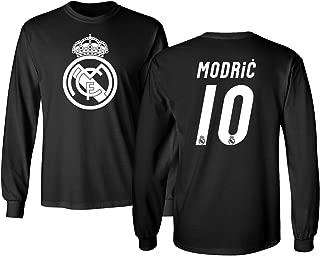 KING THREADS Real Madrid Luka Modric #10 Jersey Shirt Soccer Football Men's Long Sleeve T-Shirt