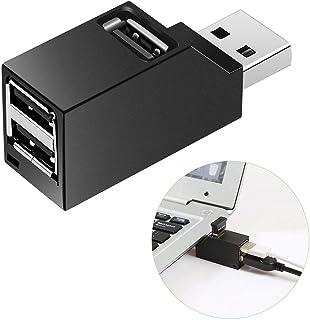 TOOGOO Adattatore per PC Desktop Portatile con Espansione per HUB Splitter USB 2.0 a 3 Porte Ad Alta velocità.