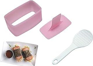 HENGYID Non Stick Musubi Maker Press with Small Rice Paddle, BPA Free Sushi Making Kit Onigiri Mold, Non-Toxic Luncheon Me...