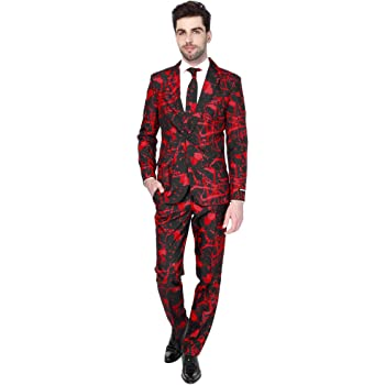 Pants and Tie Includes Jacket Suitmeister Everyday Suits for Men in Fun Prints Full Set