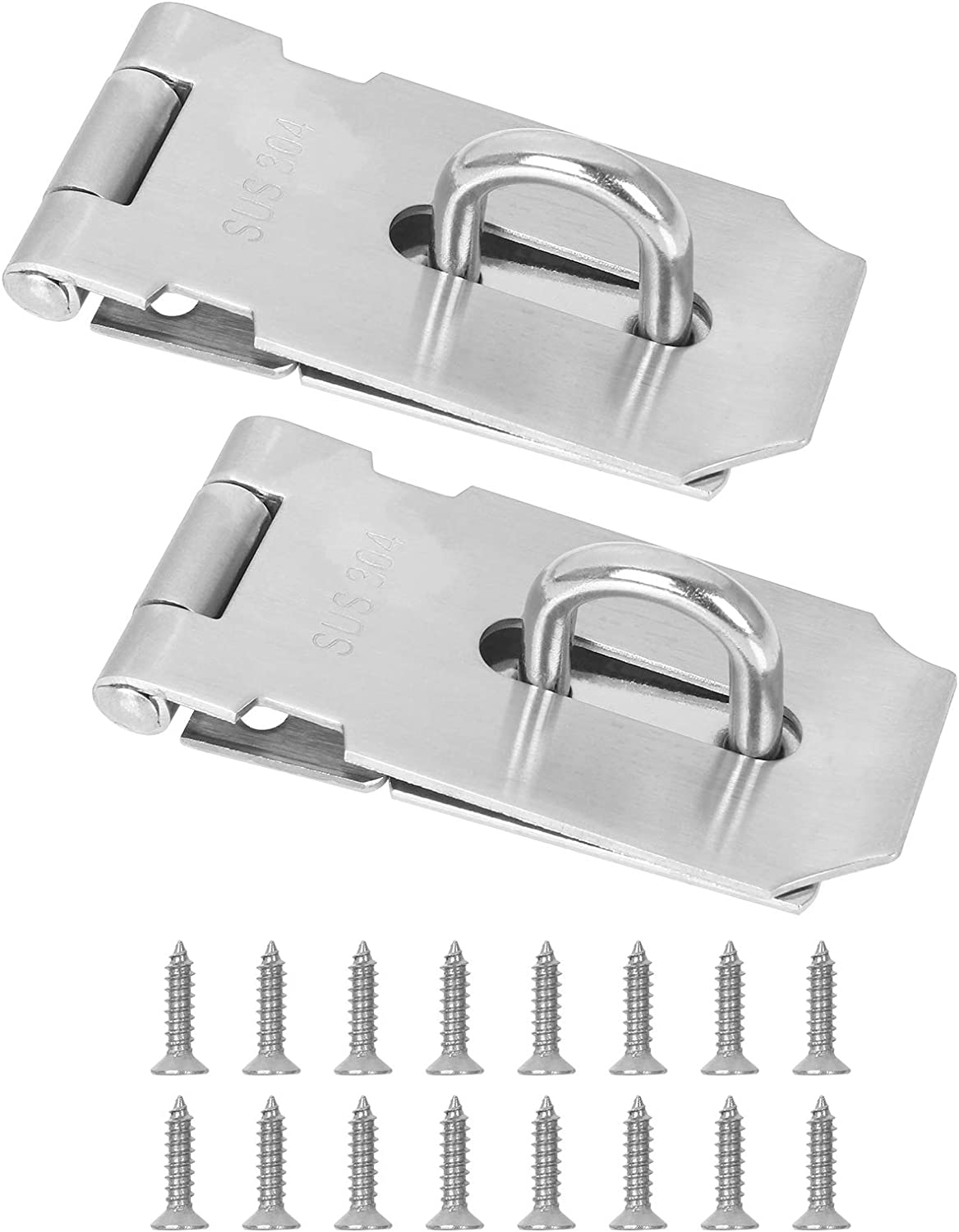 ZOEYES 2 Pack 3 Inch 2021 Padlock 304 New product Door Stainless Hasp Steel Clasp