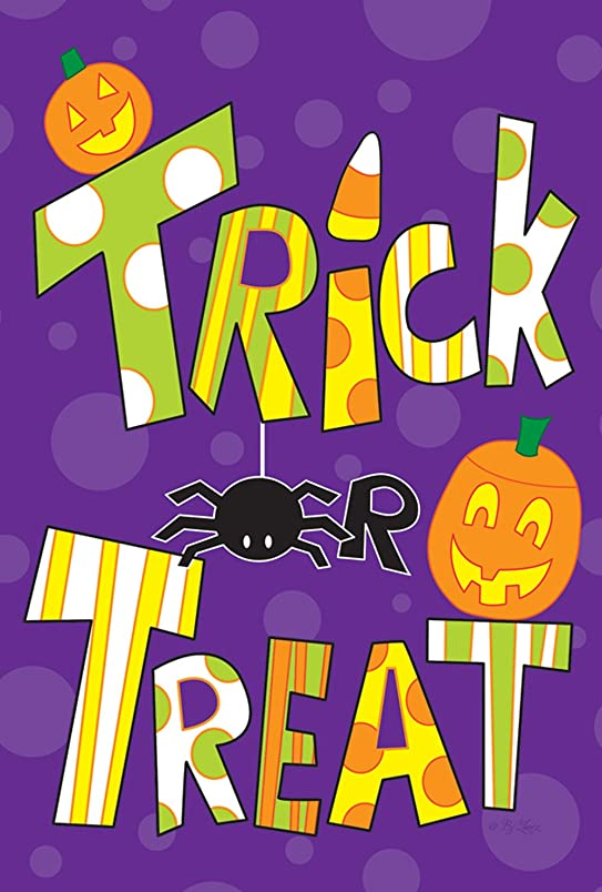 Toland Home Garden Tricks And Treats 28 x 40 Inch Decorative Colorful Halloween Candy House Flag yq577680740