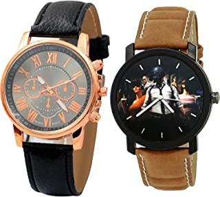 NIKOLA PUBG Military Army Analogue Black Color Dial Boys Watch - B192-B177 (Pack of 2)