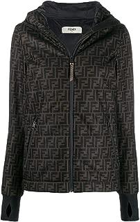 FENDI Luxury Fashion Womens FAA478AB3RF1ACW Brown Outerwear Jacket | Season Permanent
