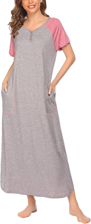 DREZZED Womens Long Nightshirt Plus Sleeve Oversized Special sale item Short Size Under blast sales