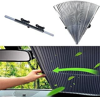 Oeyal Car Windshield Sun SUV Shade, Retractable Foldable Car Windows Sun SUV Shade UV Protection Front Windows for Windshield SUV Car, Trucks, Vans (65cm)