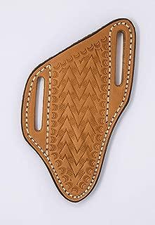 TOP HAND GEAR Leather Pancake Crossdraw Knife Sheath, Fixed Blade, Medium