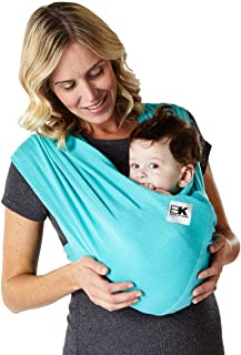 Baby K'tan Breeze Baby Wrap Carrier, Infant and Child Sling - Simple Wrap Holder for Babywearing - No Rings or Buckles - Carry Newborn up to 35 lbs, Teal, Small (W Dress 6-8 / M Jacket 37-38)